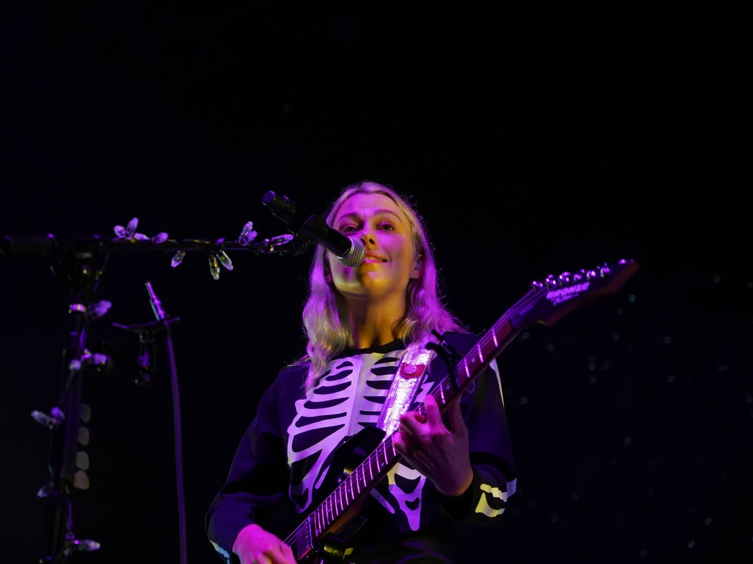 Phoebe Bridgers performs a show at the Red Hat Ampitheater in Raleigh, NC, on Sept. 21, 2021.
