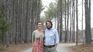 Tim & Megan Toben at The Honeysuckle Tea House outside of Carrboro in Chapel Hill, on Saturday March 22nd 2014. The Tea House is a collaborative project that began with a kickstarter page. It's set to open this March