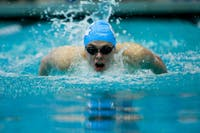 The men's and women's teams fell to Duke, 155-145, and 165.5-134.5, respectively, on Saturday, Feb. 2, 2019.