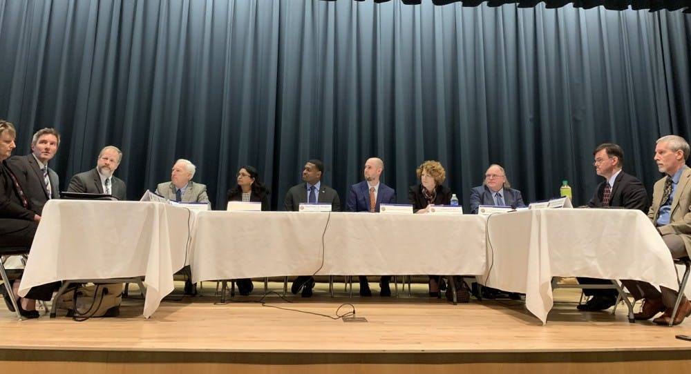 <p>Members of the state Climate Change Interagency Council Photo met on Feb. 19 in Elizabeth City to discuss greenhouse gas emissions, Executive Order 80 and the impacts of climate change in North Carolina. Photo courtesy of Sharon Martin.</p>