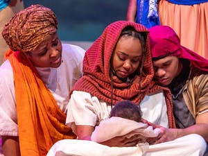 "Triangle Performance Ensemble's annual production of ""Black Nativity Durham"" will be presented virtually beginning Friday, December 18 until December 31. Photo courtesy of Emmanuel Tabb."