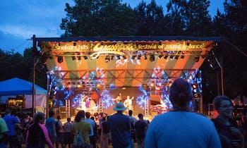 The stage at the Shakori Hills GrassRoots Festival.  Photo courtesy of Elizabeth Larson.