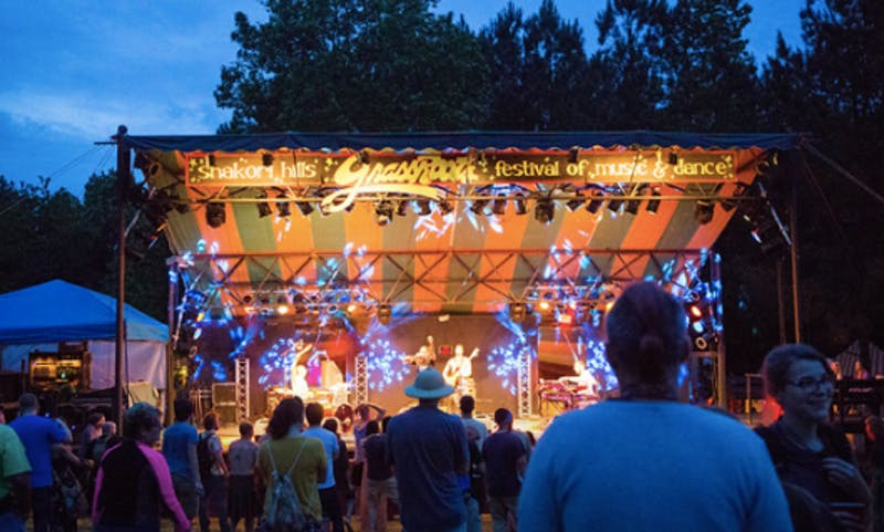 The stage at the Shakori Hills GrassRoots Festival.  Photo courtesy of Elizabeth Larson.