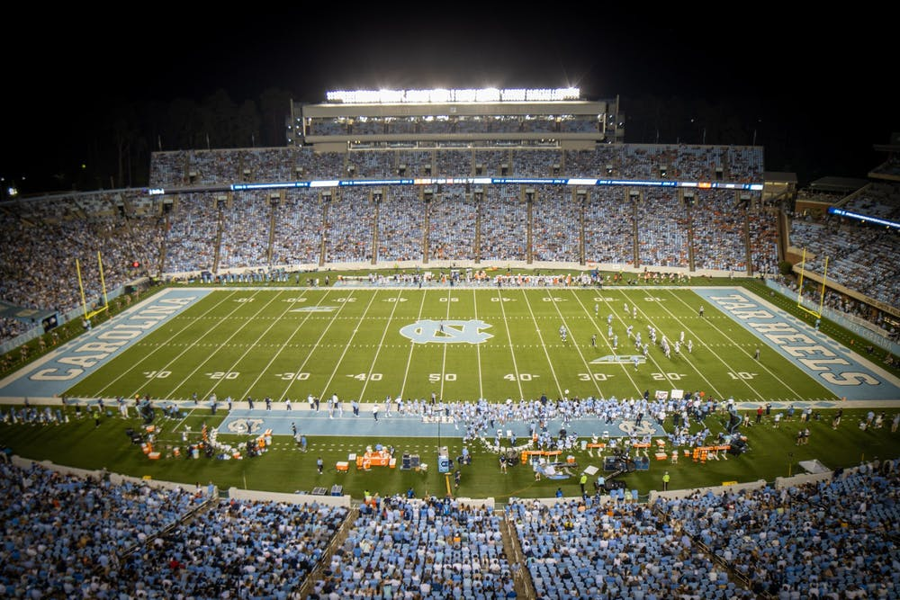 <p>Kenan Stadium pictured during UNC football's home matchup against the University of Virginia Cavaliers on Sept. 18.</p>