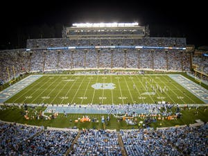 Kenan Stadium pictured during UNC football's home matchup against the University of Virginia Cavaliers on Sept. 18.