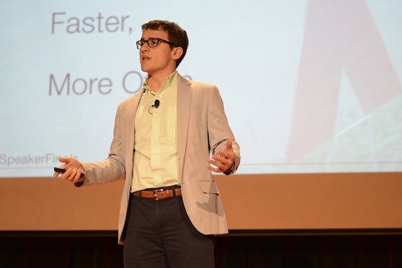 "Jonathan Hebert, a senior Public Policy and Economics double major, won the student speaker series of TEDxUNC on Wednesday. His talk, ""Improvisation: A Framework for Collaborative Assembly"" will now be featured in the third annual TEDxUNC conference on February 7th in Memorial Hall."