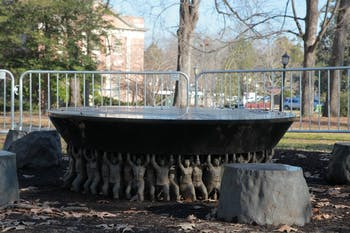 The Unsung Founders Memorial, erected in 2005, is on McCorkle Place at UNC-Chapel Hill.