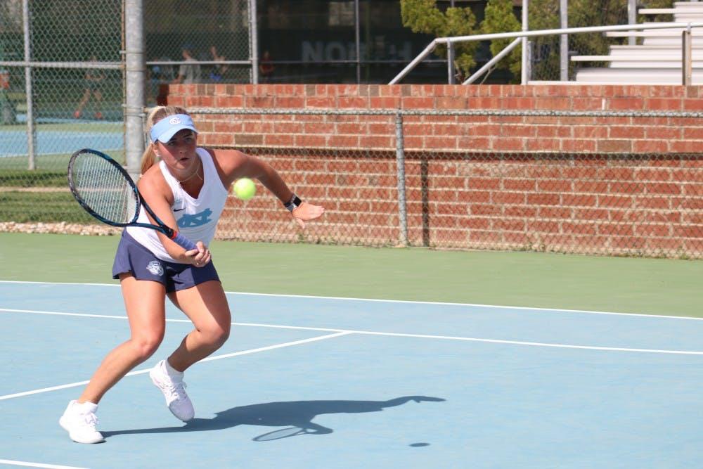 No. 2 UNC women's tennis slips past Georgia Tech, advances to ACC Championship final