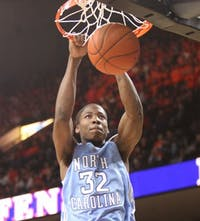 """Ed Davis has been the Tar Heels? most productive bench player but"""" as a more defensively minded player averages only seven points per game."""