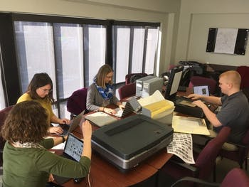 "A group of eighth grade students in Wilmington worked on a yearlong project with a local journalist to uncover some of the lost editions of ""The Daily Record,"" Wilmington's only Black newspaper during the city's race riots in 1898. Photo courtesy of the NC Digital Heritage Center."