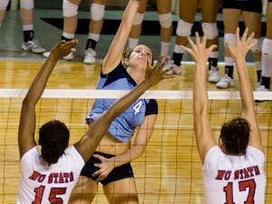 """Sue Haydel was key in helping secure Tuesday?s win against N.C. State"""" recording 15 kills and 18 digs in the 3-1 conference victory."""