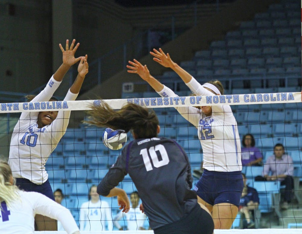 UNC volleyball gains valuable lessons in ACC Big-Ten Challenge loss