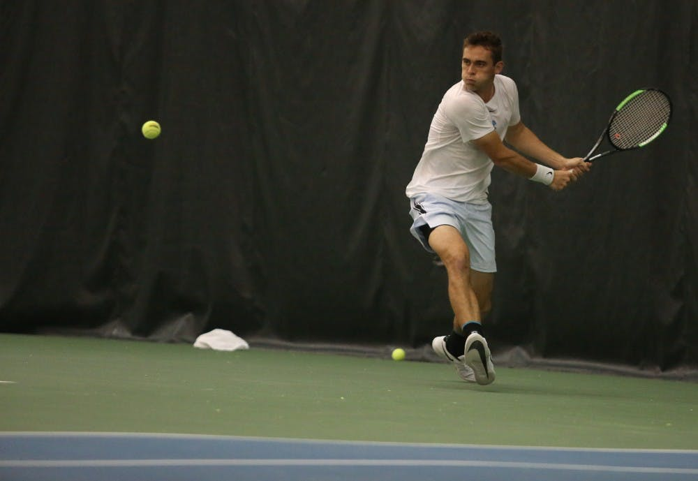 Peck and Harrison step up in unfamiliar roles for UNC men's tennis in 6-1 win