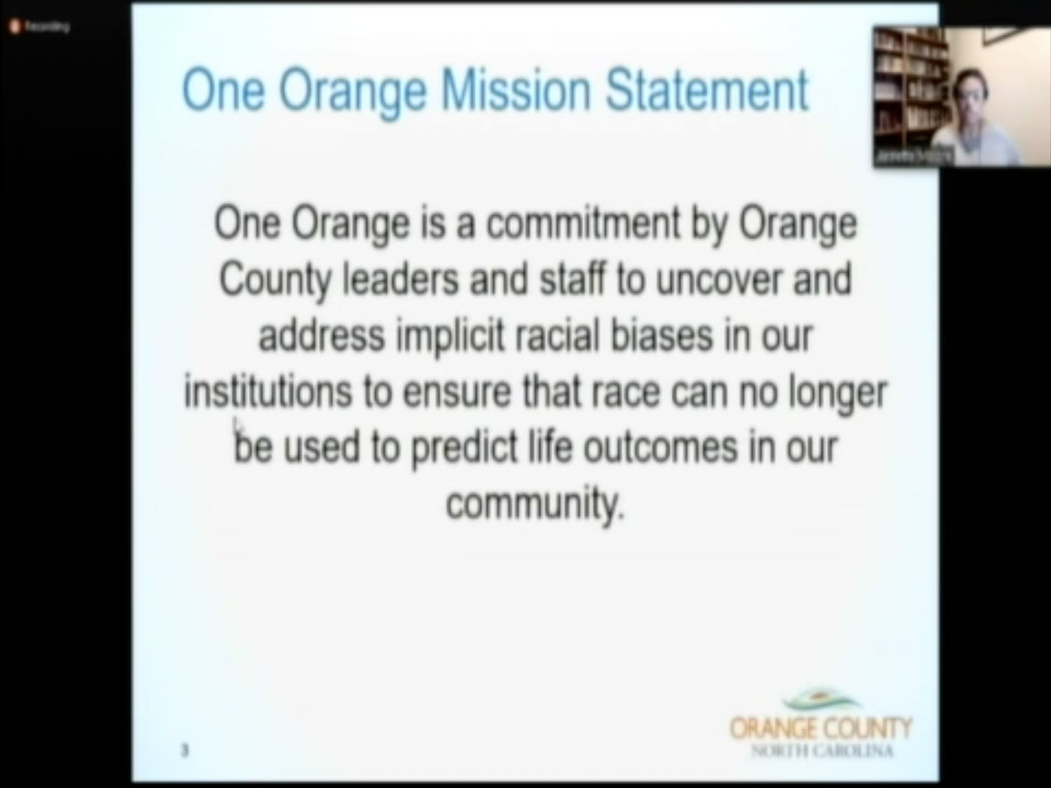 The Orange County Board of County Commissioners held a joint virtual meeting with Orange County Schools on Zoom on Sept. 23.