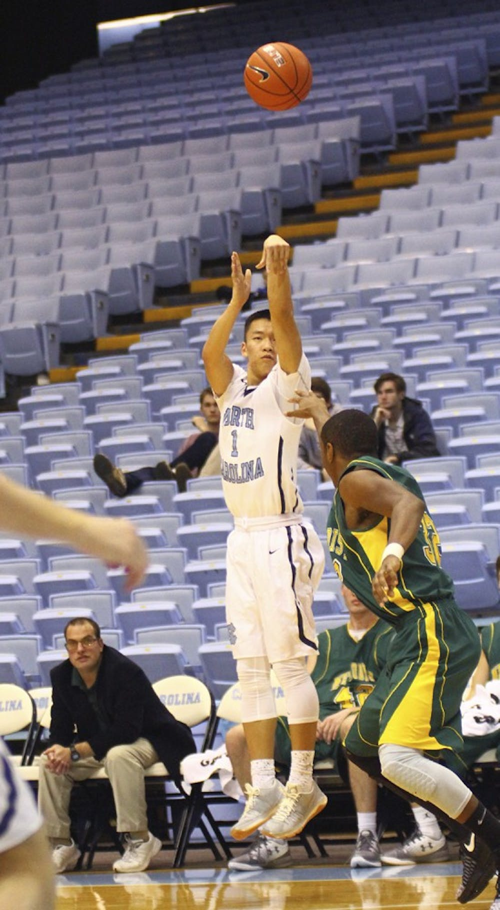 UNC junior varsity basketball overcomes slow start for 74-55 win over Guilford College