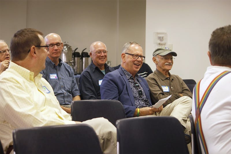 Supporters of the Carolina Gay Association gathered on Saturday to celebrate the 40th reunion of the organization.