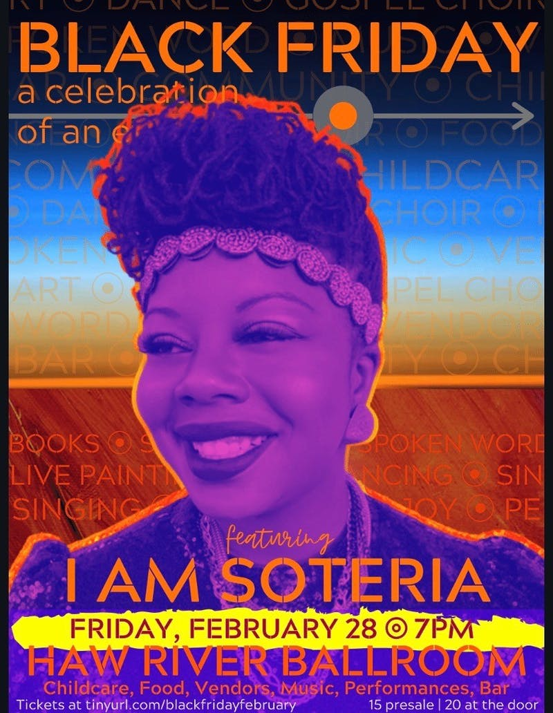 """Soteria Shepperson organized the event 'Black Friday' as part of her performance platform """"I Am Soteria"""". Shepperson focuses on social issues like racism and equality at her events. Photo courtesy of Soteria Shepperson."""