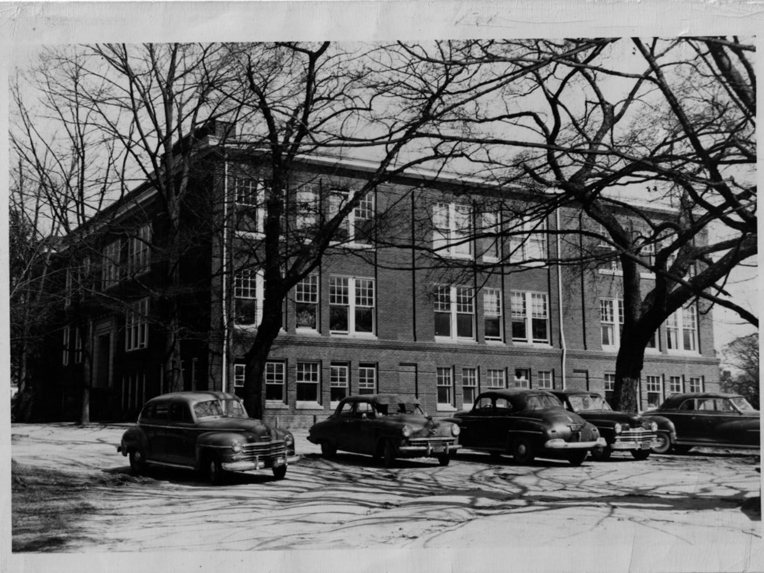 Chapel Hill High School stood on West Franklin Street between 1916-1936, where Carolina Square and Target are currently located. Photo courtesy of the Chapel Hill Historical Society.