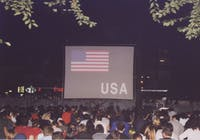 The third year of Manhattan Short occurred in Union Square Park on Sept. 23, 2001, just days after the 9/11 attacks. Photo courtesy of Nicholas Mason.