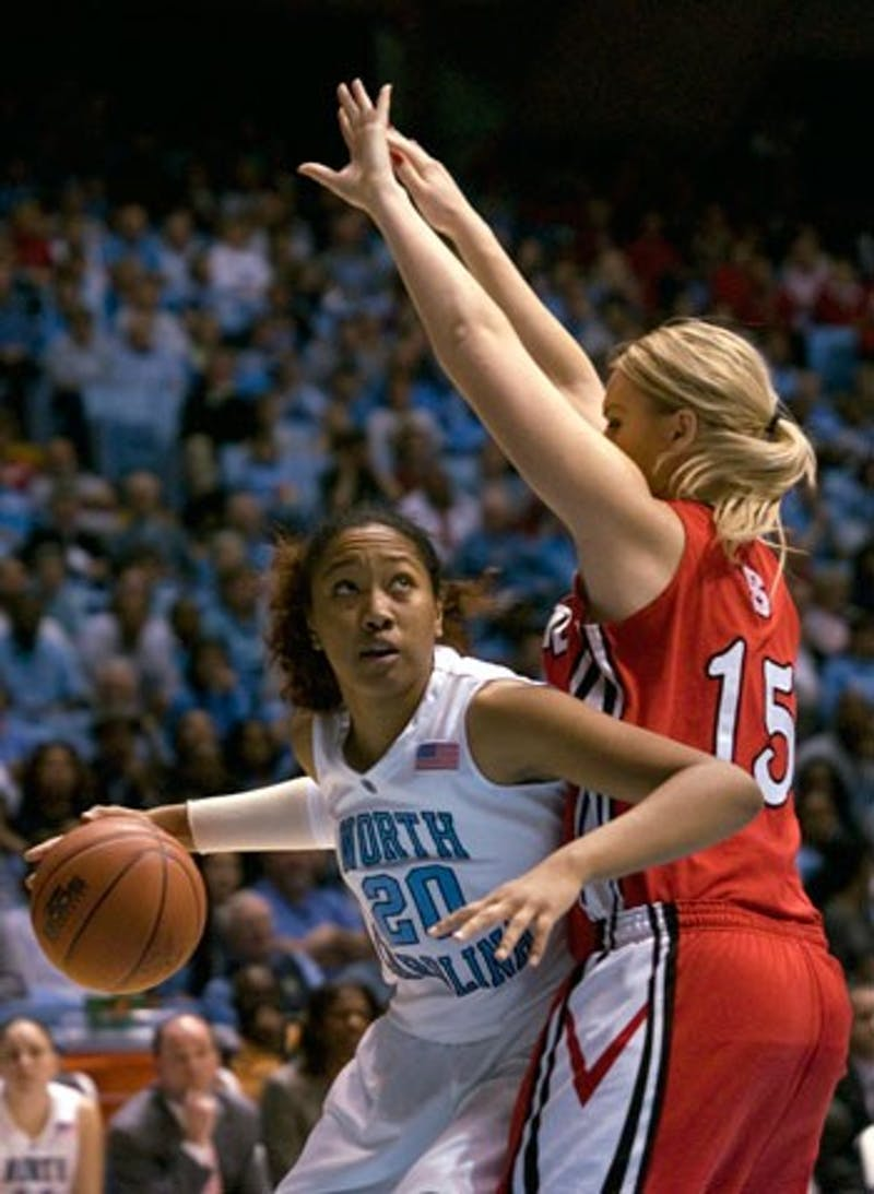 UNC freshman Chay Shegog provides a spark off the bench for the Tar Heels. Shegog has 24 blocks on the year and is Hatchell?s go-to player for low post defense.