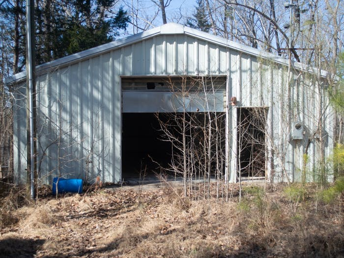 One of the buildings that was added to the site when it was repurposed as a radioactive waste decay site. Most of the radioactive waste was stored in this building. Pictured on Thursday Feb 25 2021.