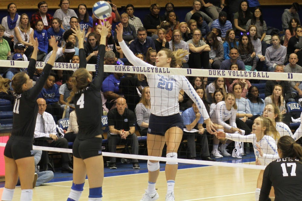 UNC volleyball makes a comeback against Duke for fourth conference win