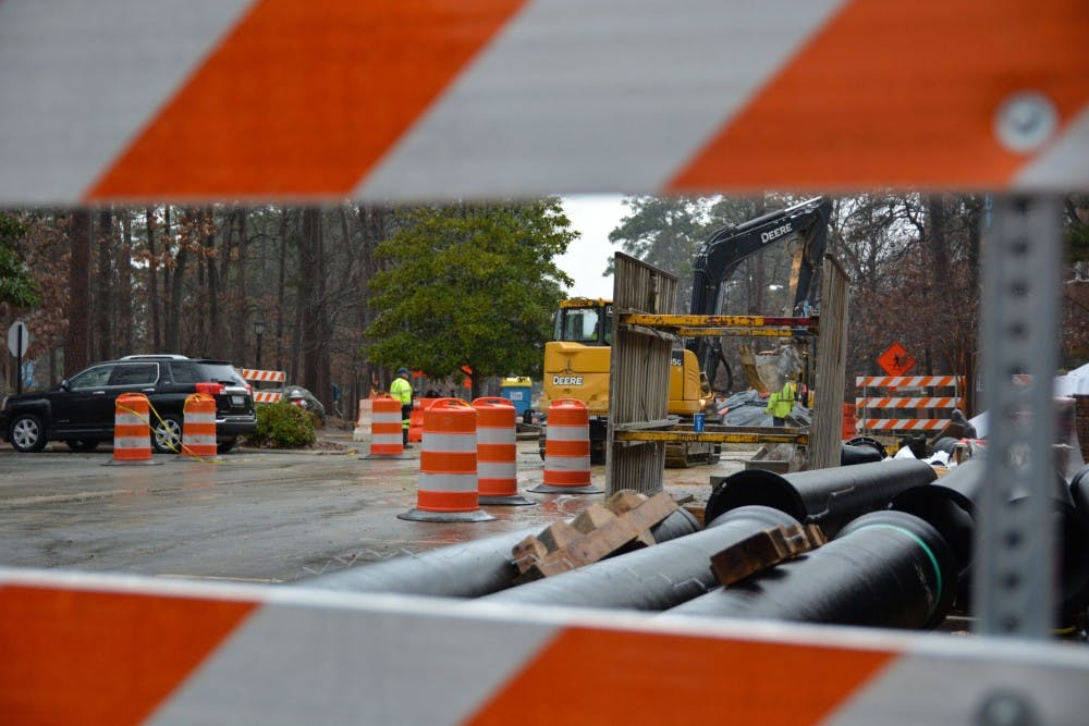 Stadium Drive construction has been delayed due to inclement weather
