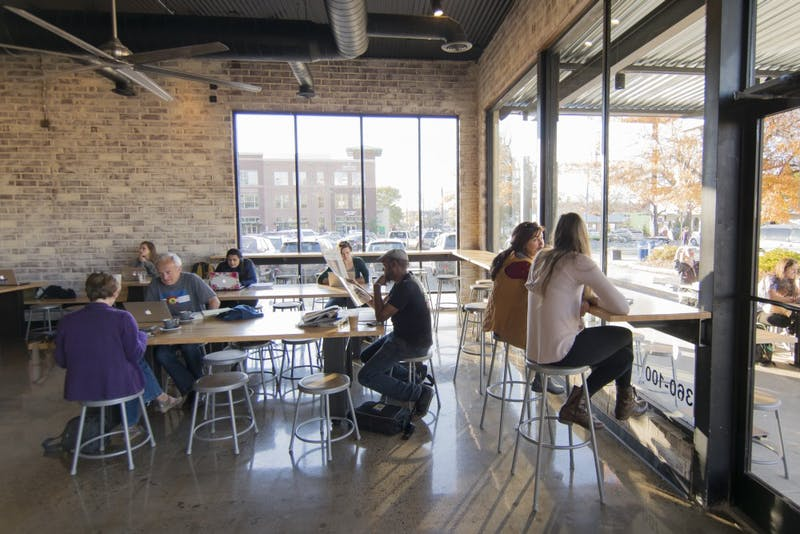 People relaxed and studied Wednesday afternoon at Gray Squirrel Coffee on Rosemary Street.