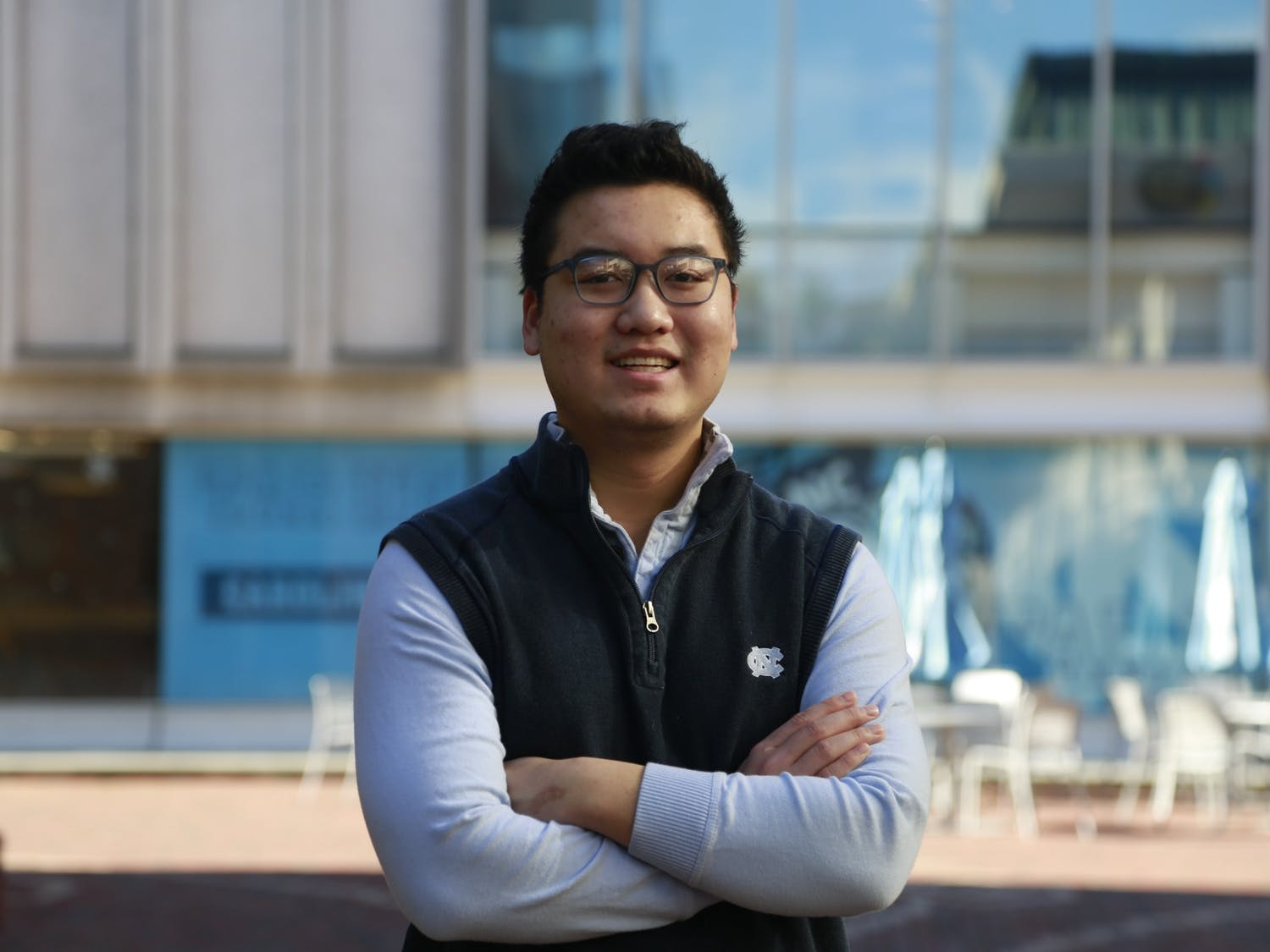 "Luke Nguyen, a UNC sophomore psychology major, is a co-president of the Mental Health Ambassadors.  The program empowers students to create a community in support of mental wellness. ""This program will definitely be worth your time."""