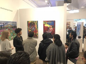 """The art of Wilbert Alfonso, among others, is on display at Pleiades Arts in Durham as a part of """"DREAMers: a visual conversation about DACA, Deportation Defense, and the American Dream."""" Photo courtesy of Renee Leverty."""