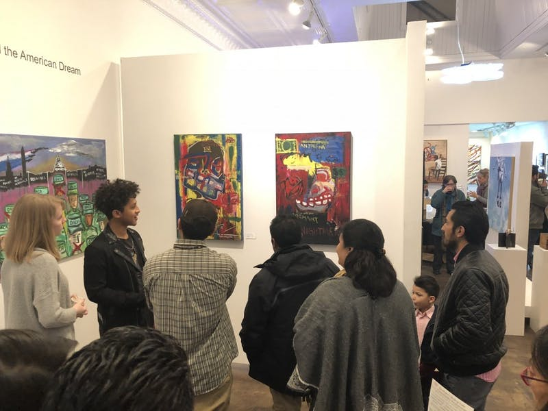 "The art of Wilbert Alfonso, among others, is on display at Pleiades Arts in Durham as a part of ""DREAMers: a visual conversation about DACA, Deportation Defense, and the American Dream."" Photo courtesy of Renee Leverty."