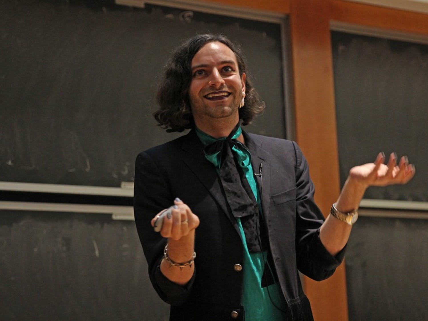 UNC SAGA held a talk with gender activist Jacob Tobia in Chapman Hall on Thursday night.