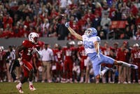 Wide receiver Beau Corrales (88) extends for a ball against N.C. State on Nov. 25 in Raleigh.