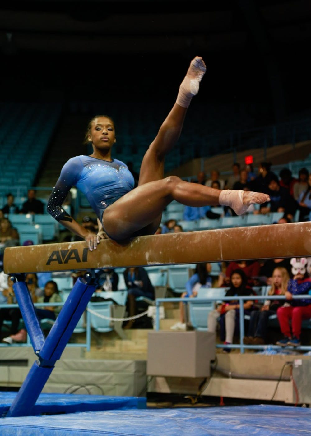 UNC gymnastics feeds off crowd in home win against Towson