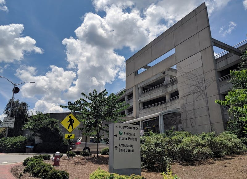 The Dogwood Parking Deck on Manning Drive was the site of a strong-arm robbery earlier this week.