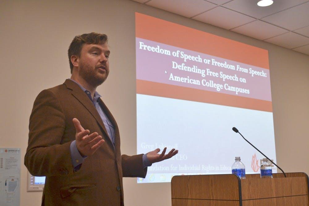 Atlantic author advocates campus free speech