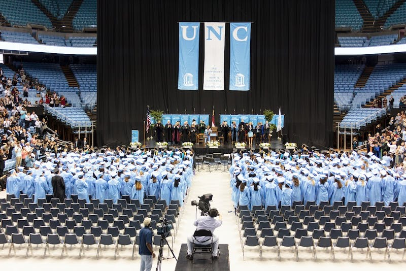 Winter commencement was held in the Dean Smith Center Sunday afternoon.