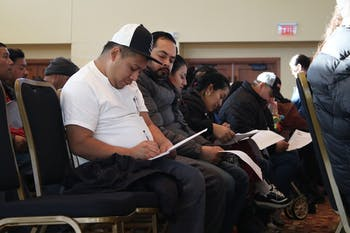 The Hispanic Community gathered at Saint Thomas More Catholic Church Saturday morning to obtain their FaithID which will help law enforcement better serve them.