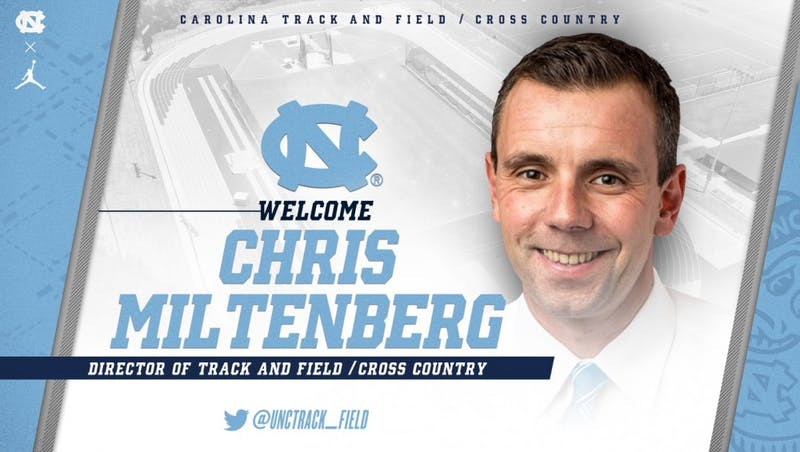 Chris Miltenberg, the new director of North Carolina's track and field and cross country programs. Photo courtesy of UNC athletics.