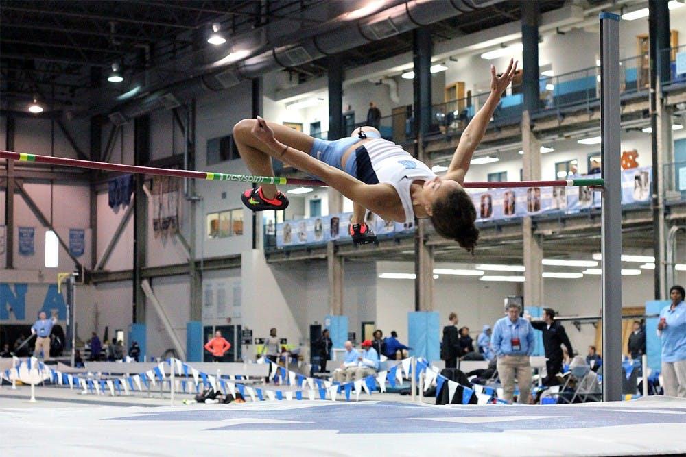 Senior Cameron Overstreet sets school record in women's pole vault