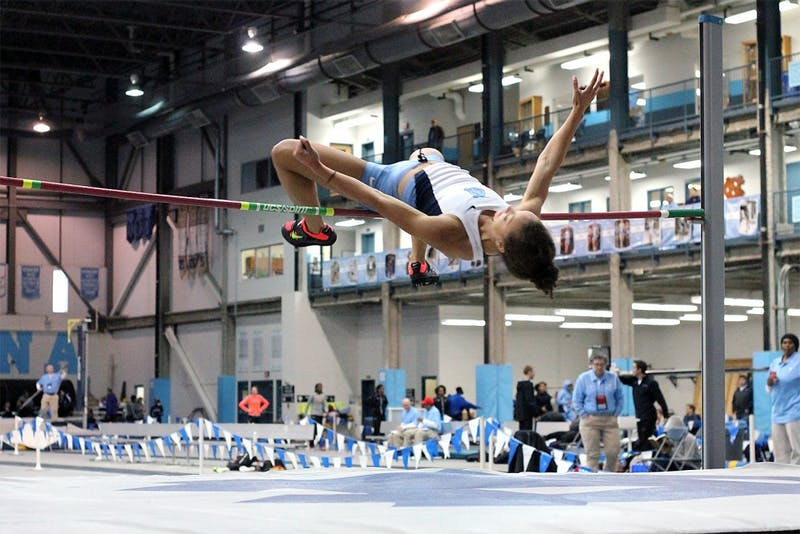 Tory Kemp, a junior majoring in exercise and sport science, represented UNC in the women's high jump at the Kent Taylor Invitational on Saturday.