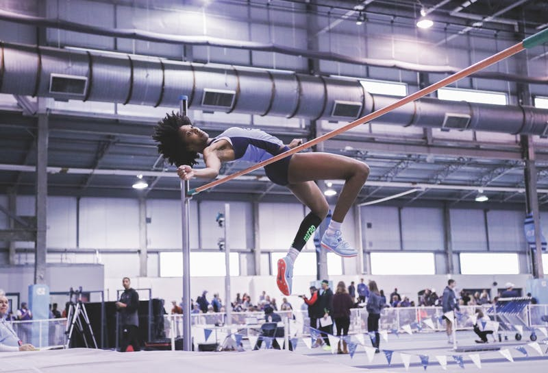 Nicole Greene competes in the high jump during the Dick Taylor Carolina Cup on Jan. 13 in Eddie Smith Field House. Greene won UNC's first individual national championship since 2007 at the 2018 NCAA Indoor Track and Field Championships.