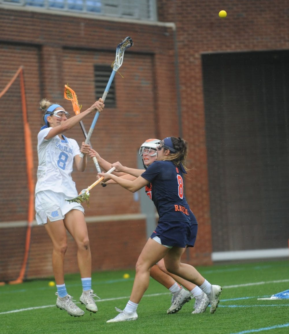 Kara Klages and Tayler Warehime help deliver UNC women's lacrosse a win over Syracuse