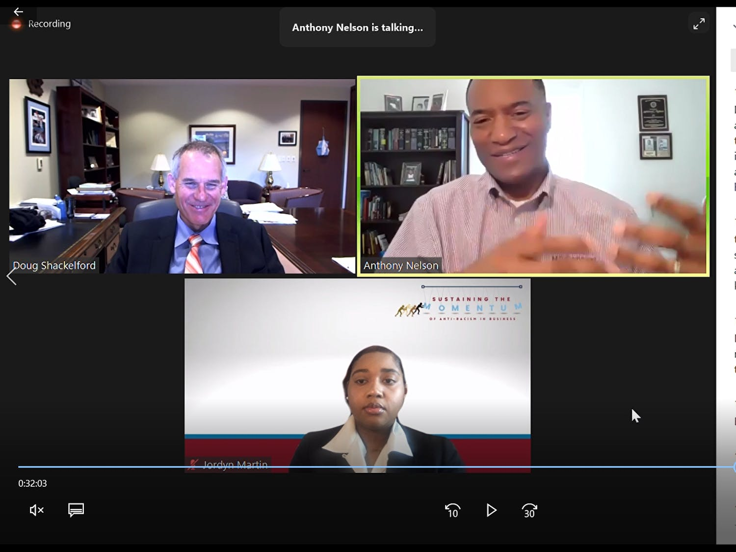 UNC and North Carolina Central co-hosted a virtual symposium to discuss racism in business and how to address it.
