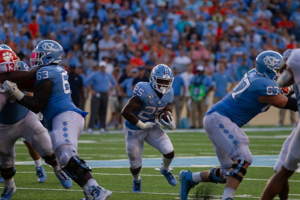 UNC football falls to Virginia Tech in six overtimes, 43-41