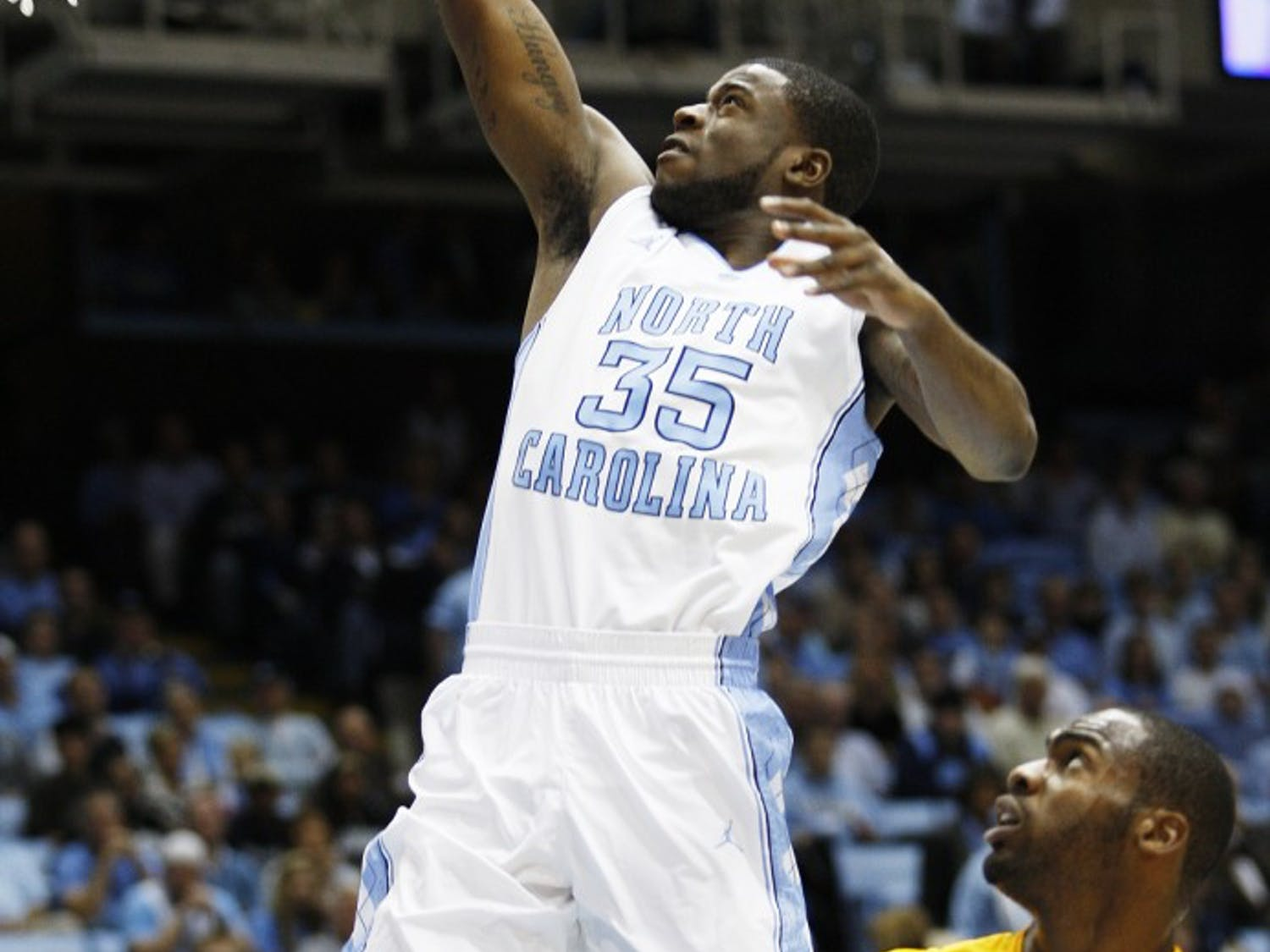 The North Carolina Tar Heels hosted the Long Beach State 49ers at the Dean E. Smith Center on Saturday, Dec. 10, 2011.