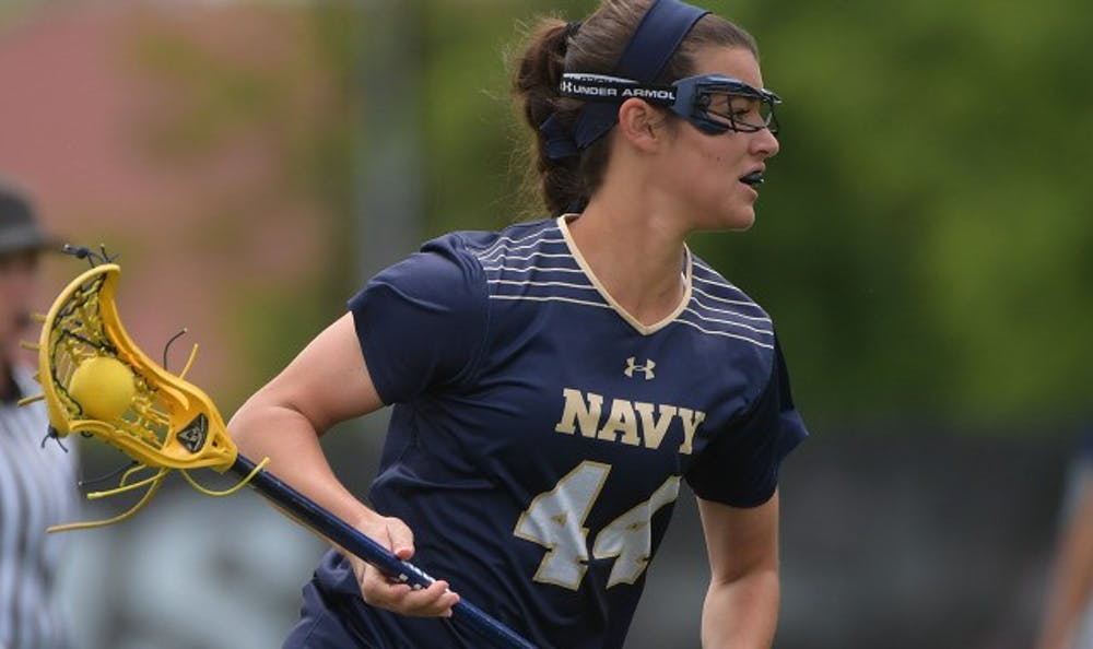 <p>Navy's Julia Collins in action. Photo courtesy of Naval Academy Sports Information</p>