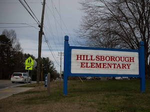 A car passes by Hillsborough Elementary on Thursday, Jan. 23, 2020. Hillsborough is one of two schools in Orange County testing a composting program.
