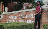 Stefan Weathers is the student body president at North Carolina Central University.