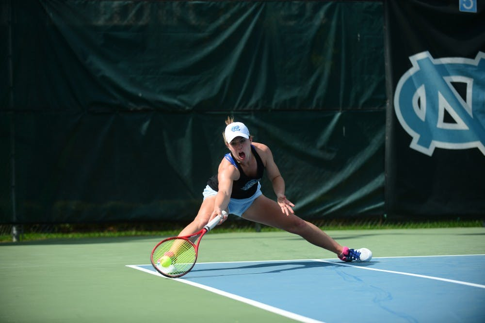 Women's tennis seniors Aney and Ouellet-Pizer go out shining in 7-0 win over Wake Forest